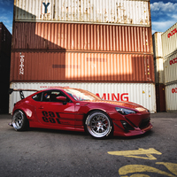 Red 2013 Scion FR-S on Silver/Chrome SSR Professor MS3