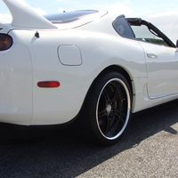 White 1998 Toyota Supra on Black SSR Werfen GT-03