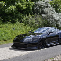 Black 1995 Toyota Supra on Black Weds Kranze LXZ