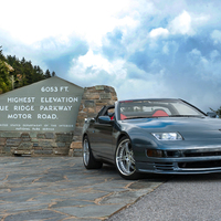 Gray 1990 Nissan 300ZX on Silver/Chrome SSR Werfen GT-03