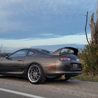 Brown 1994 Toyota Supra on Gray Volk Racing GT-F