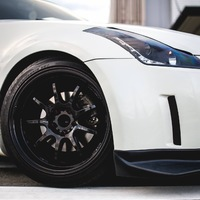 White 2005 Nissan 350Z on Black Work Emotion D9R