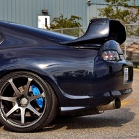 Blue 1994 Toyota Supra on Silver/Chrome Advan Racing AVS Model F7