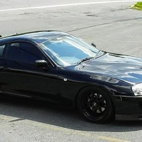Black 1994 Toyota Supra on Black Concept One CSL-5.5