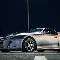 Silver/Chrome 1994 Toyota Supra on Silver/Chrome CCW LM5