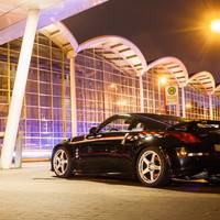 Black 2005 Nissan 350Z on Silver/Chrome Nismo LM GT4