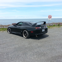 Black 1994 Toyota Supra on Black Stern ST1
