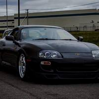 Gray 1993 Toyota Supra on Silver/Chrome Work Meister S1R