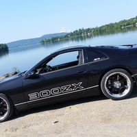 Black 1990 Nissan 300ZX on Black Volk Racing GT-7