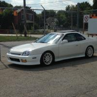 White 2001 Honda Prelude on White Honda Integra Type R