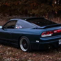 Blue 1991 Nissan 240SX on Black CCW LM20