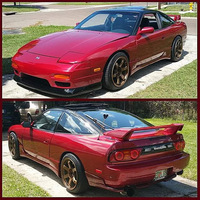 Red 1991 Nissan 240SX on Bronze Rota Grid Drift