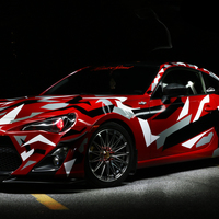 Red 2015 Scion FR-S on Silver/Chrome RTX Crystal