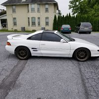 White 1991 Toyota MR2 on Bronze König Hypergram