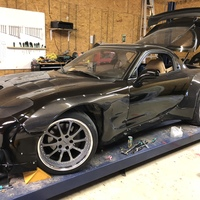 Black 1994 Mazda RX-7 on Gray Forgeline ZX3P