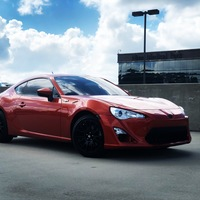 Orange 2013 Scion FR-S on Black Motegi Racing MR118