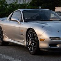 Silver/Chrome 1994 Mazda RX-7 on Gray SSR GTX01