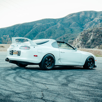 White 1994 Toyota Supra on Black Work Meister S1R