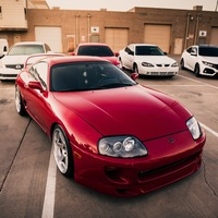 Red 1995 Toyota Supra on Silver/Chrome Varrstoen ES2