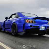 Blue 2007 Honda S2000 on Black Work Emotion CR-KAI