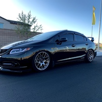 Black 2013 Honda Civic on Gray XXR 530
