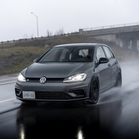 Gray 2018 Volkswagen Golf R on Black Advan Racing GT