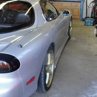 Silver/Chrome 1993 Mazda RX-7 on Gold OZ Racing Crono HT
