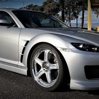 Silver/Chrome 2004 Mazda RX-8 on Silver/Chrome Volk Racing GT-C Face 2