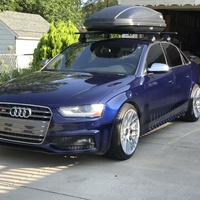 Blue 2013 Audi S4 on Silver/Chrome Rotiform RSE