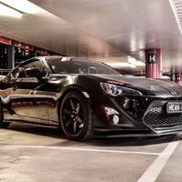 Black 2013 Toyota GT86 on Black PDW Replay