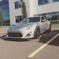 Gray 2015 Scion FR-S on Black RTX R-Spec Stag